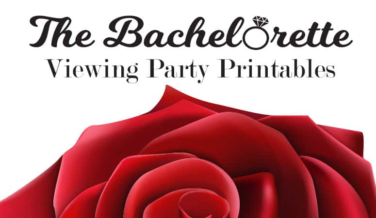 The Bachelorette Viewing Party Printables