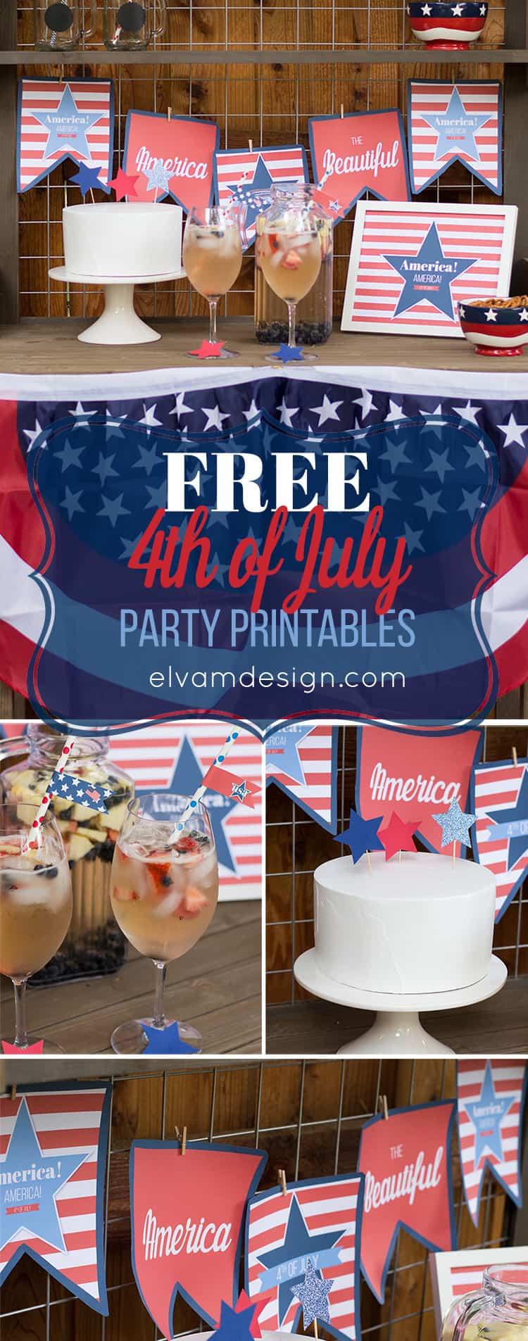 Free Printable 4th of July Decor from Elva M Design Studio