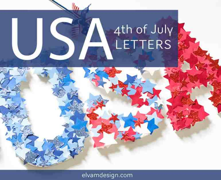 USA 4th of July Letters