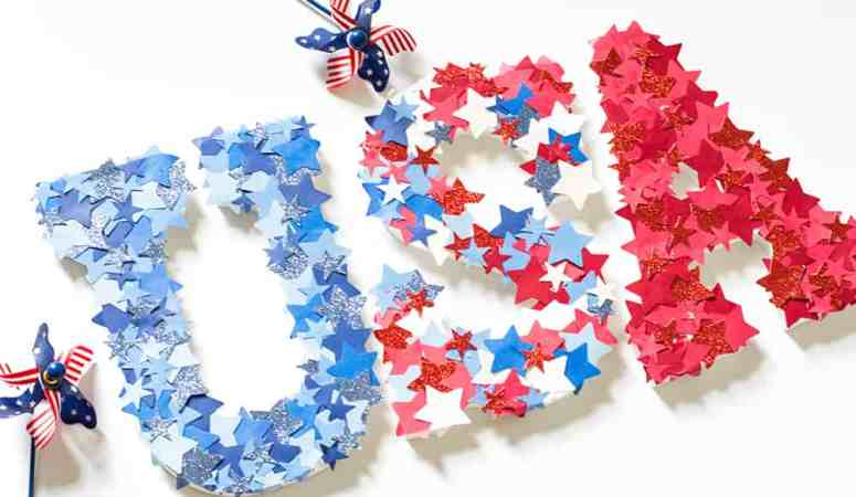 DIY 4th of July Letters