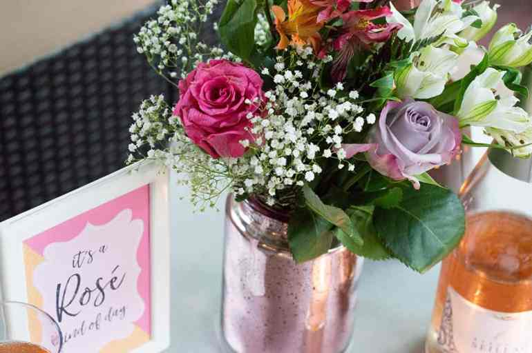 Flowers for the Rosé Kind of Day gathering