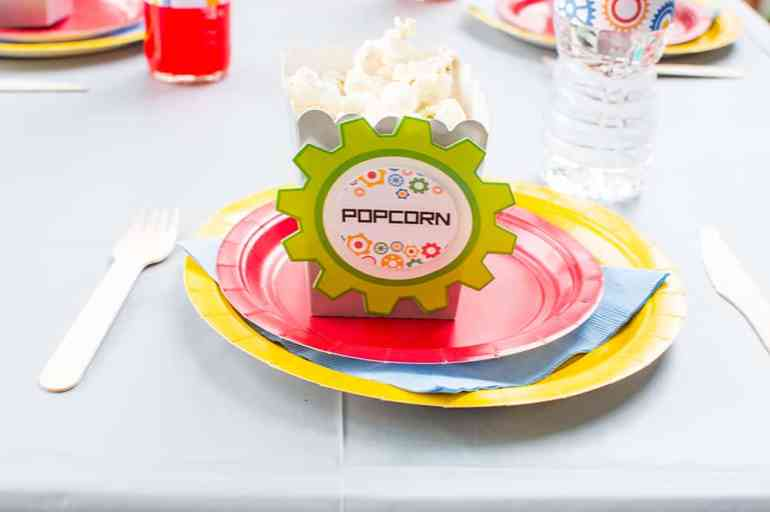 Customized Robot Party Popcorn Boxes