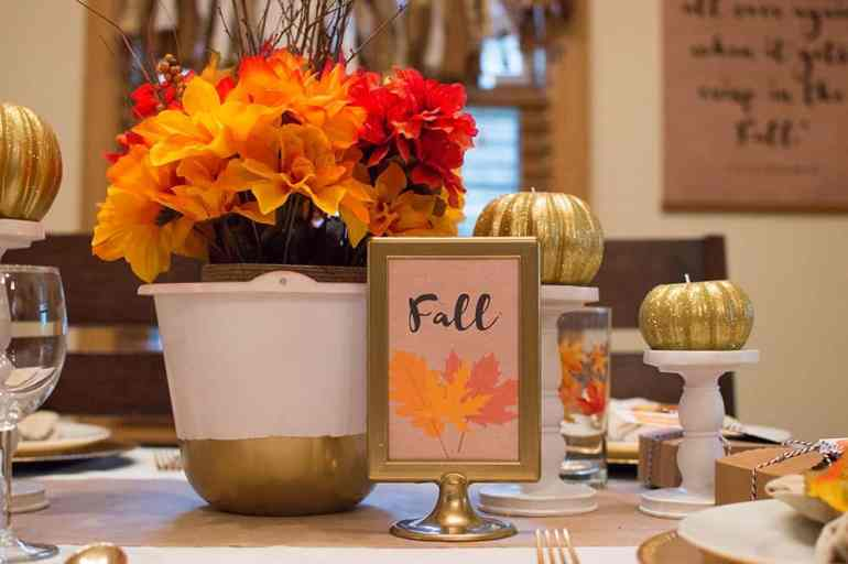 Fall Tablescape Centerpiece