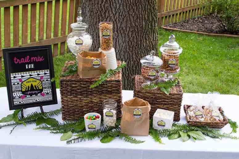 Girls Gone Glamping Trail Mix Bar