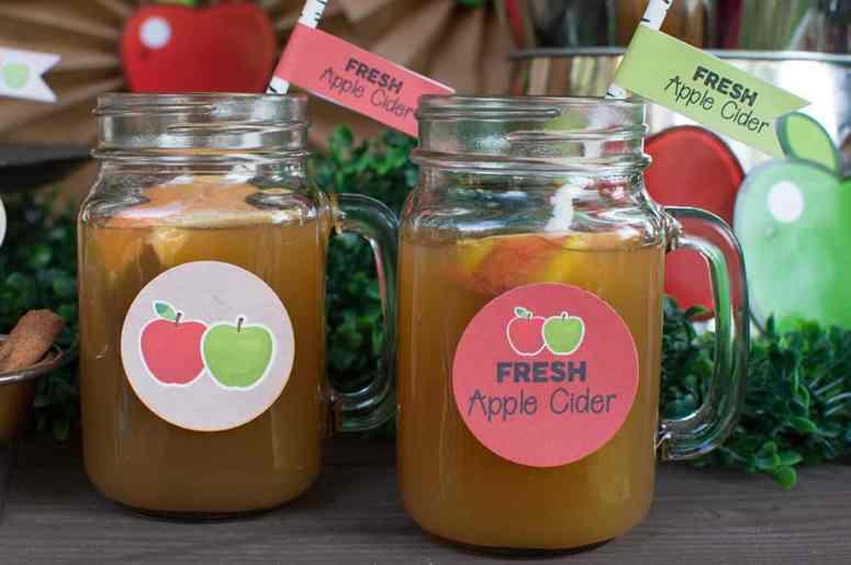 Apple Cider Bar Drinks from Elva M Design Studio