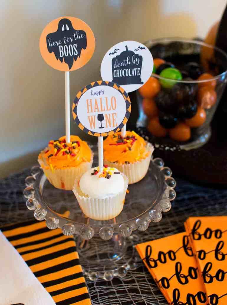 Cupcake toppers designed by Elva M Design Studio