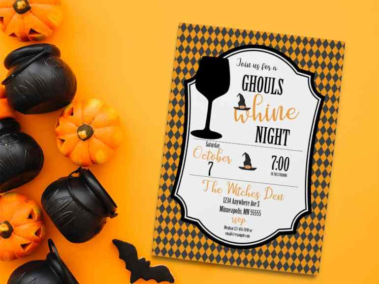 Ghouls Night Halloween Party Invite