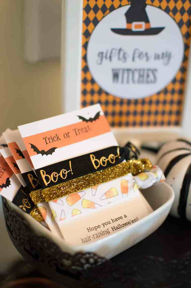 Gifts for my witches halloween hair ties from Plum Polka Dot and styled by Elva M Design Studio