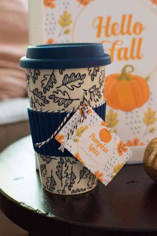 Pumpkin Spice and Everything Nice Free Gift Tag from Elva M Design Studio
