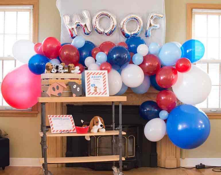 Puppy Party Balloon Garland by Elva M Design Studio