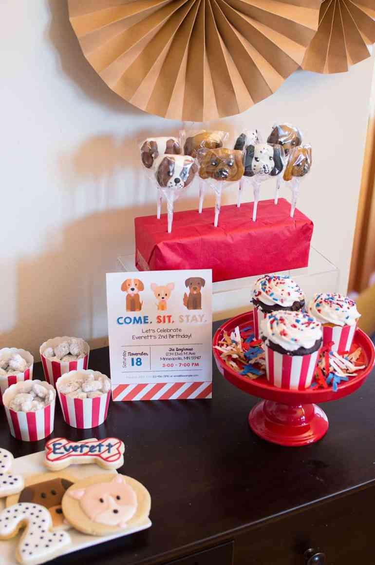 Puppy Party Treats styled by Elva M Design Studio