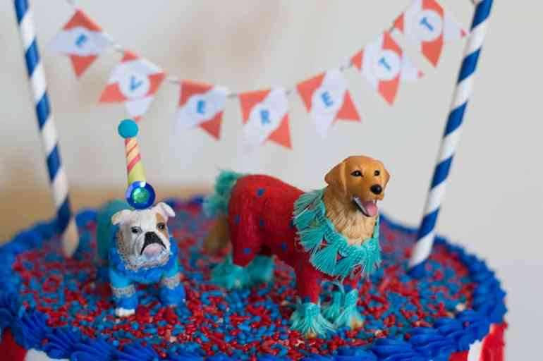 Painted Parade dog figurines, styled by Elva M Design Studio