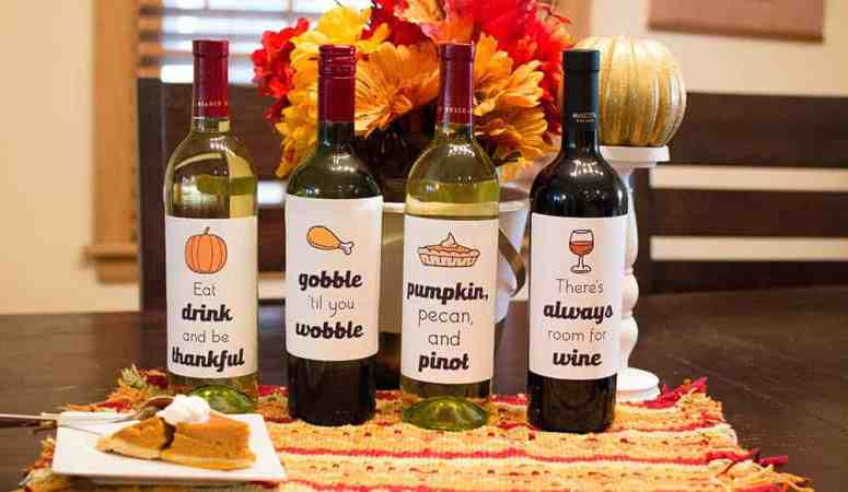 Free Thanksgiving Wine Labels