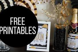 Free Noon Year's Eve Party Printables