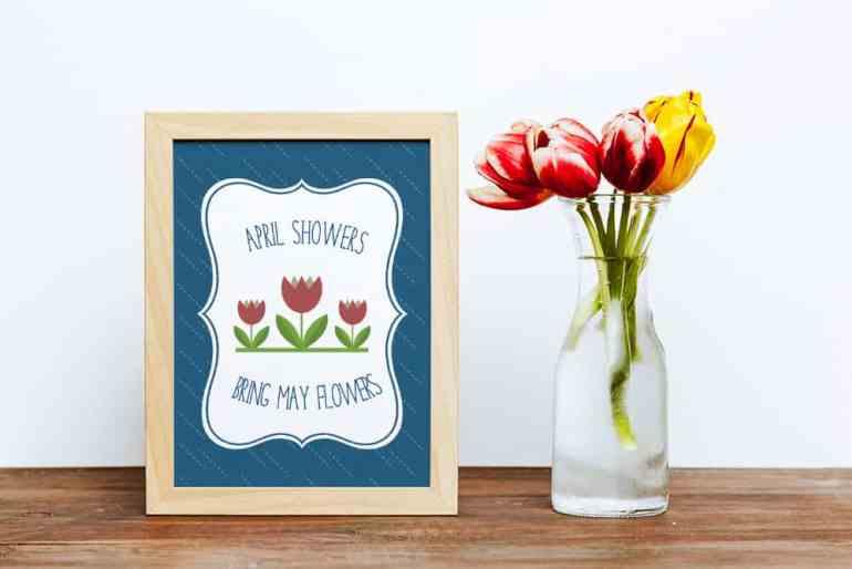 Free Spring Printable from Elva M Design Studio
