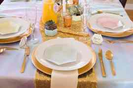 Crown Thyself Brunch Place Setting styled by Elva M Design Studio