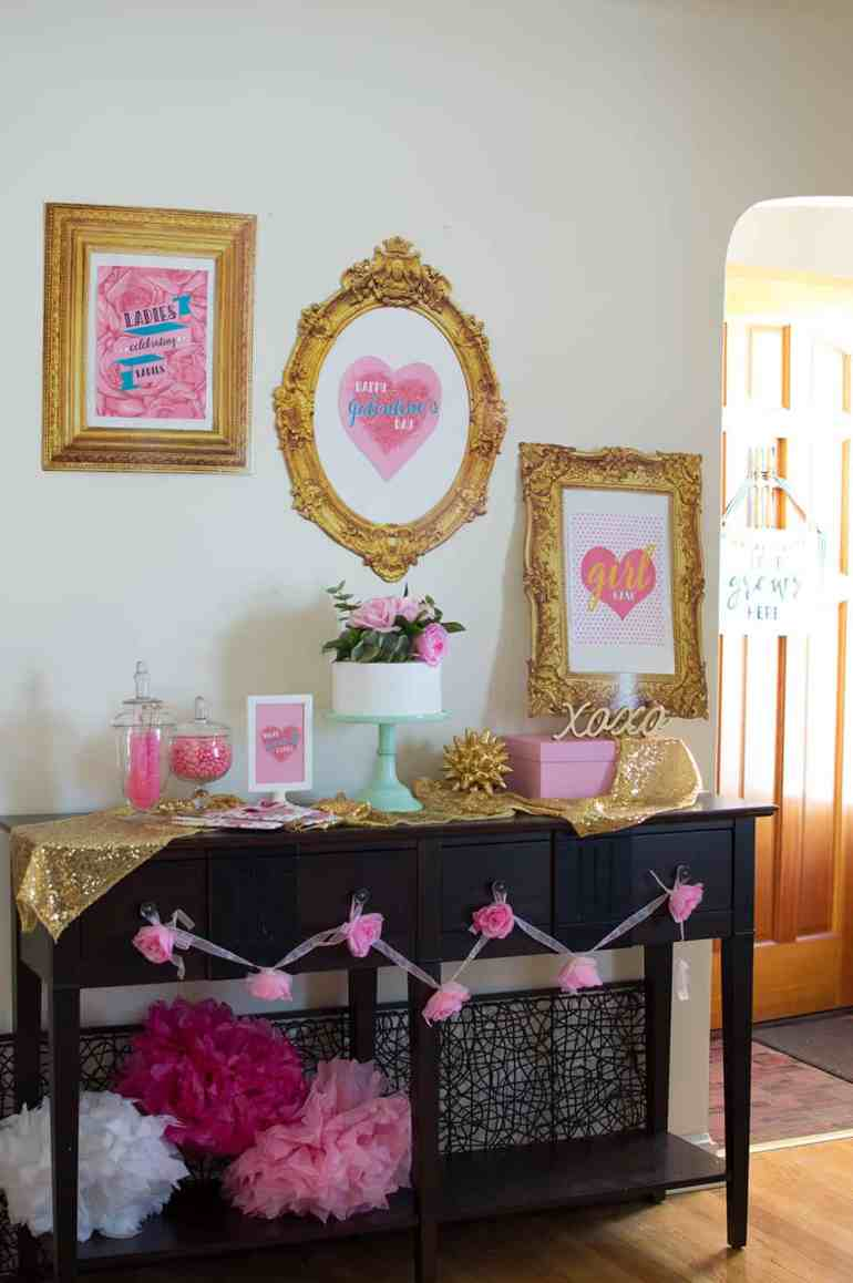Girl Gang Galentine's Day Dessert Table styled by Elva M Design Studio
