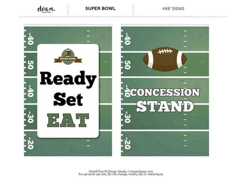 "4x6"" Football Party Signs from Elva M Design Studio"