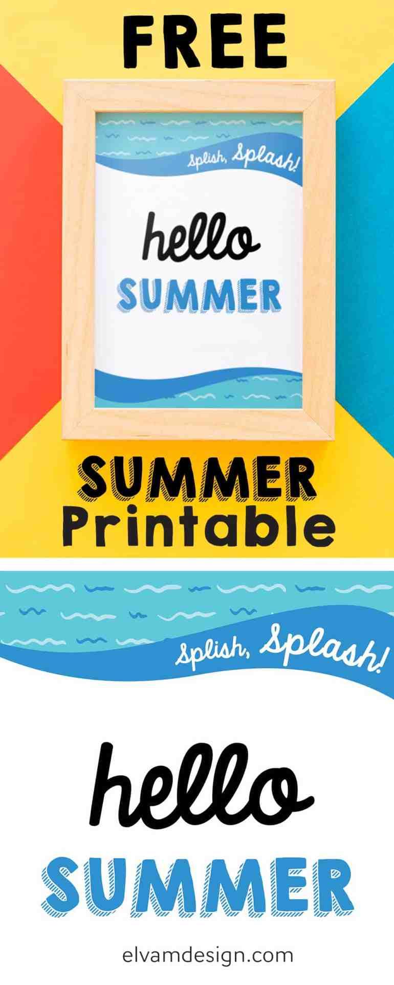 Free Summer Printable from Elva M Design Studio