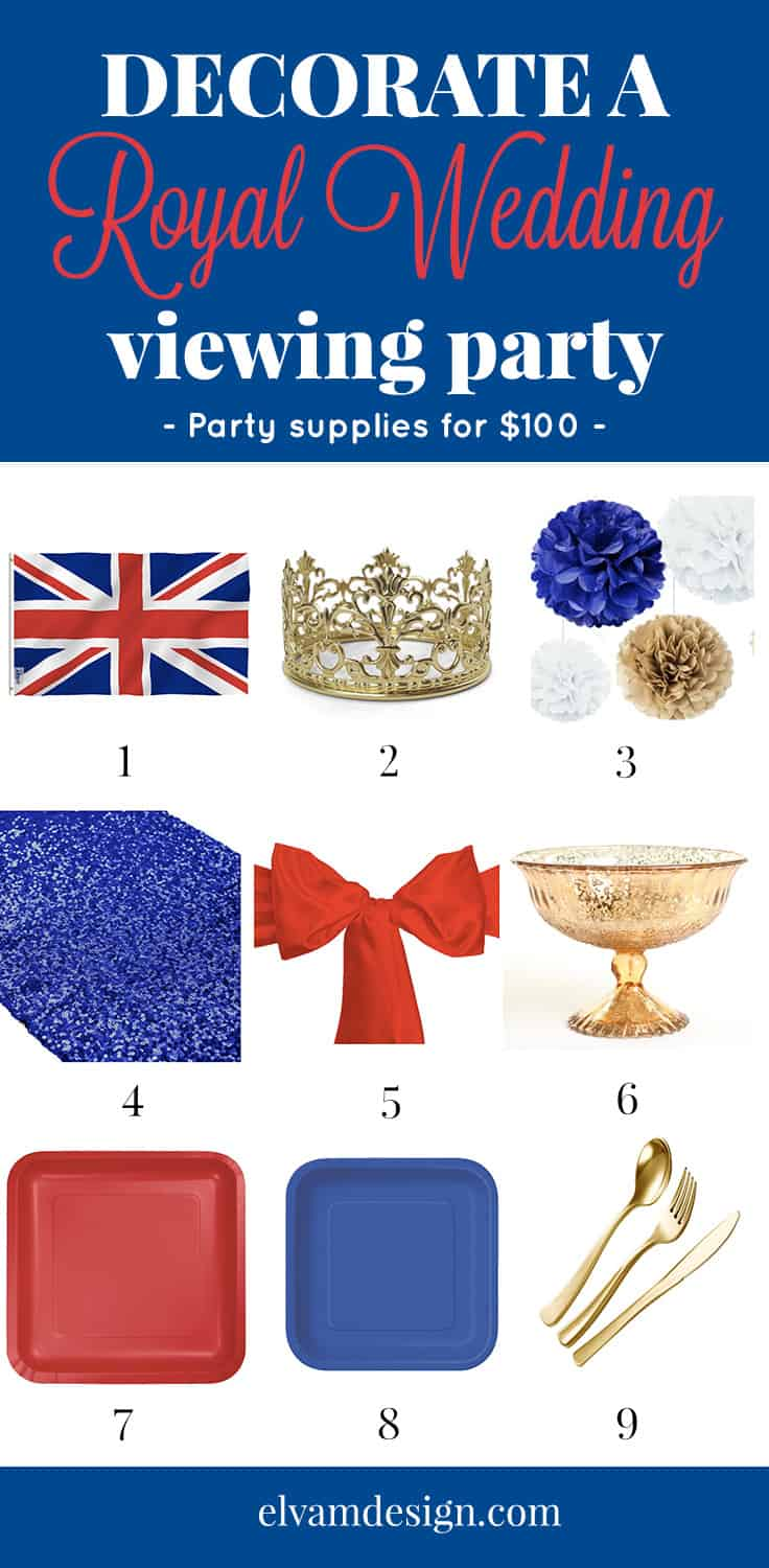 Throw a Royal Wedding Viewing Party - Products to style the perfect event.