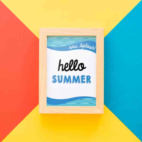 Free Hello Summer Printable from Elva M Design Studio