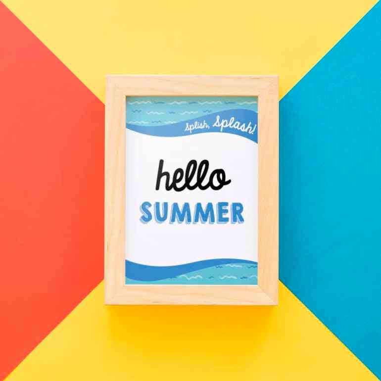 Free Hello Summer Printable from Elva M Design Studio