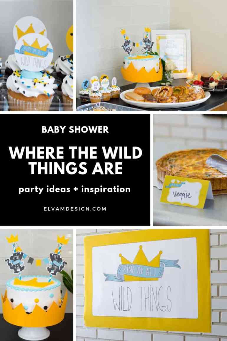 Where the Wild Things Are Baby Shower Ideas from elvamdesign.com