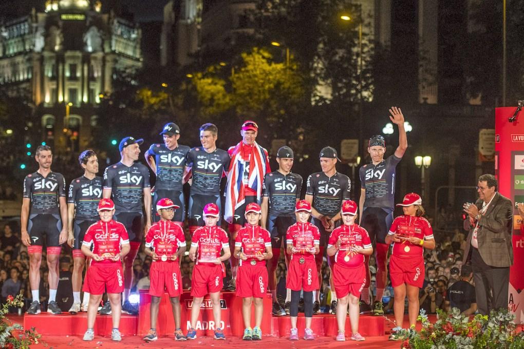 Cofidis podio Vuelta Ciclista España