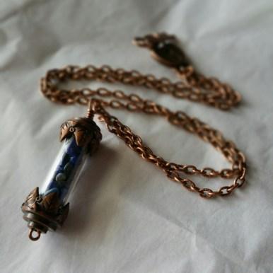 lapis lazuli and antiqued copper