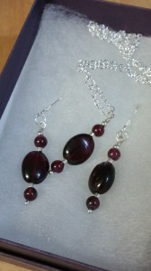 Garnet with Plated Sterling Silver