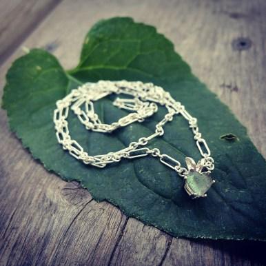 Labradorite set in silver