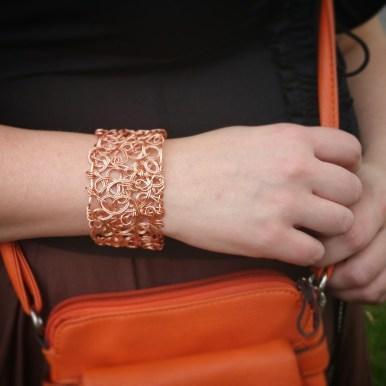 "Close-up of ""chaos bracelet"""
