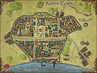 Map 47 Raven Town Elven Tower Adventures