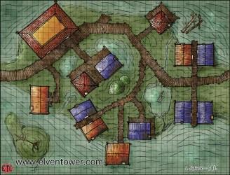 Map 56 Swamp Town Elven Tower Adventures