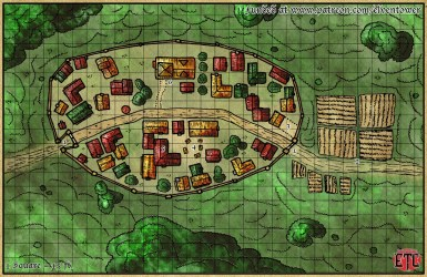Map 61 Walled Town Elven Tower Adventures