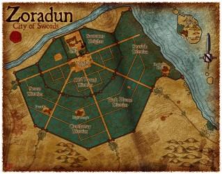 Map 100 Zoradun City of Swords Elven Tower Adventures