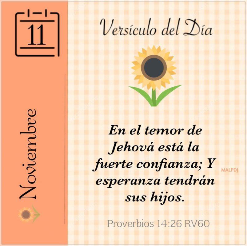 picture Proverbios 14 26 el versiculo del dia