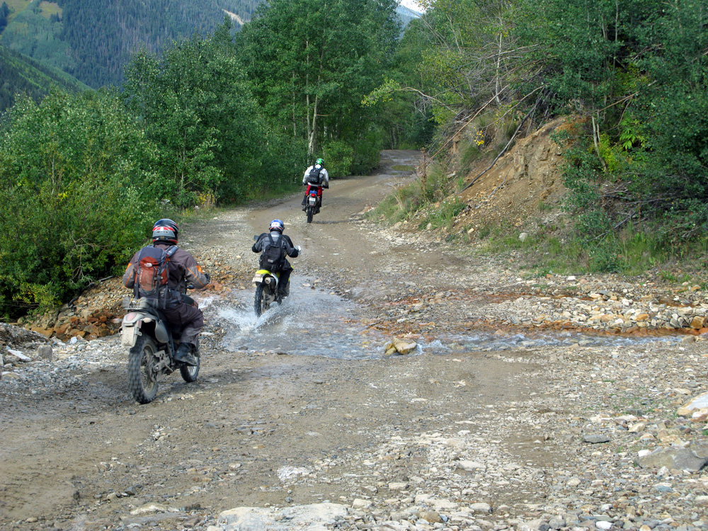 One of the water crossings coming down the pass.
