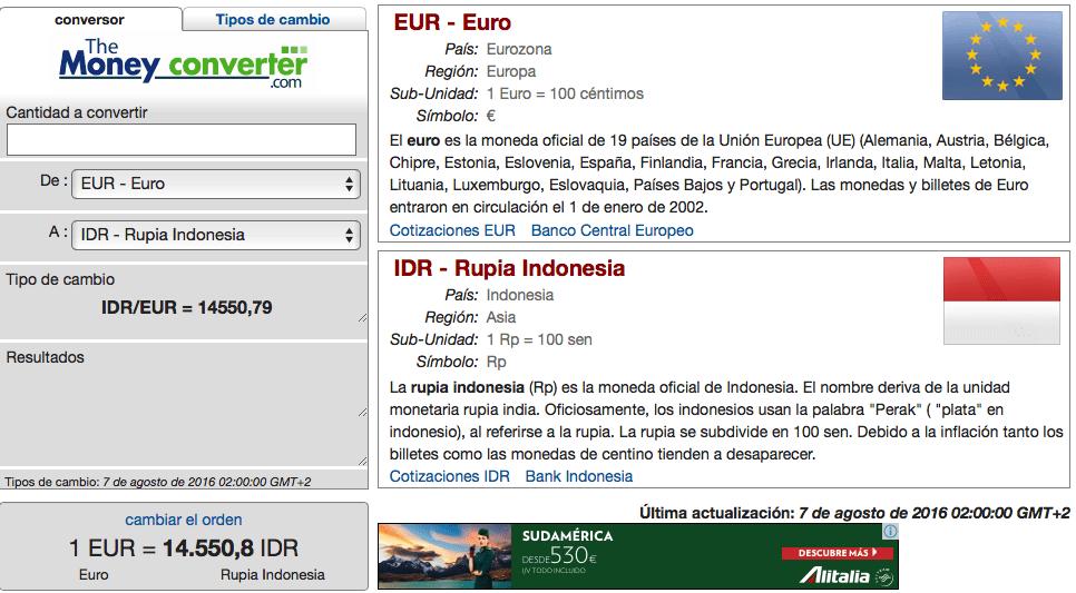 Preparativos de viaje a Indonesia