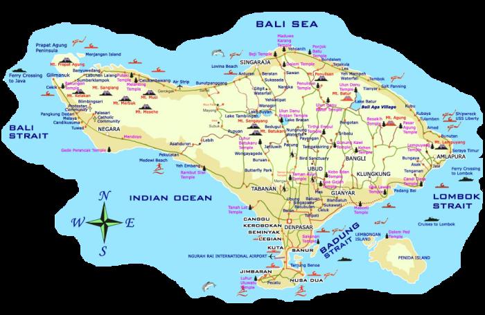 Cómo planificar Bali por zonas