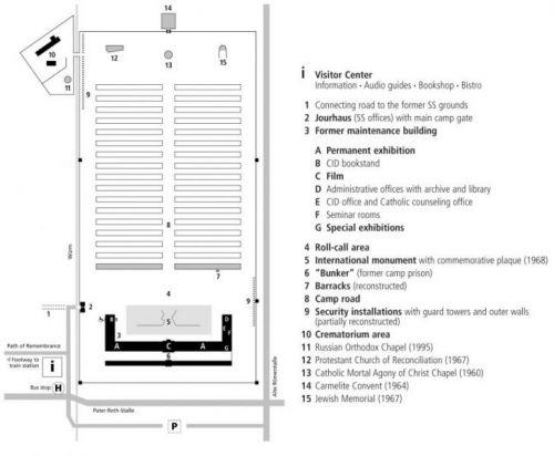 Mapa Dachau
