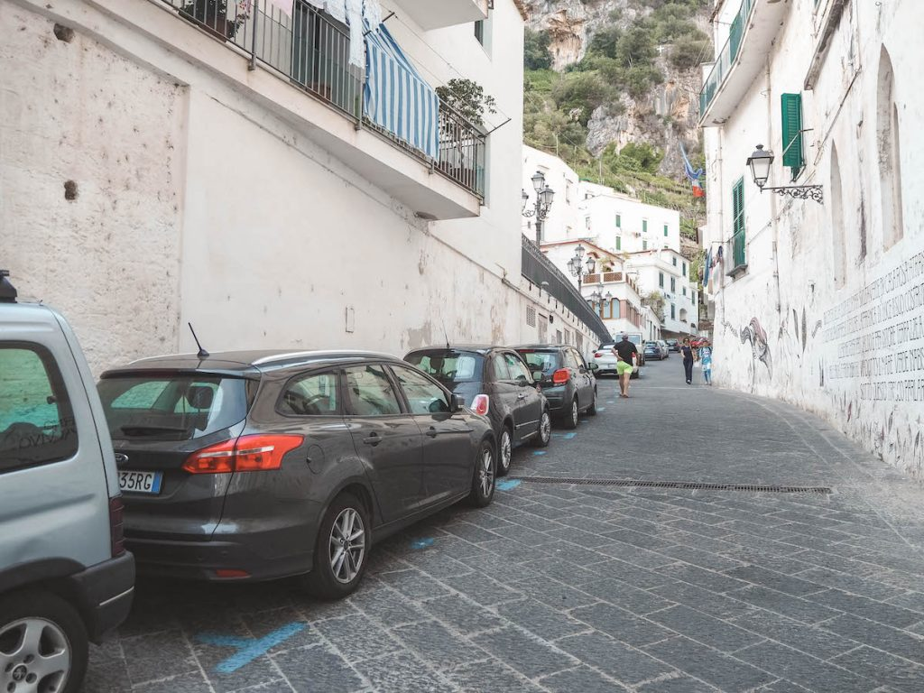 Parking en Atrani