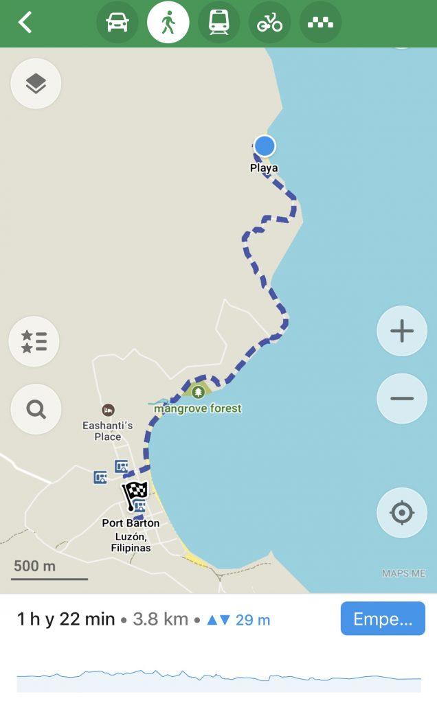 Mapa White Beach