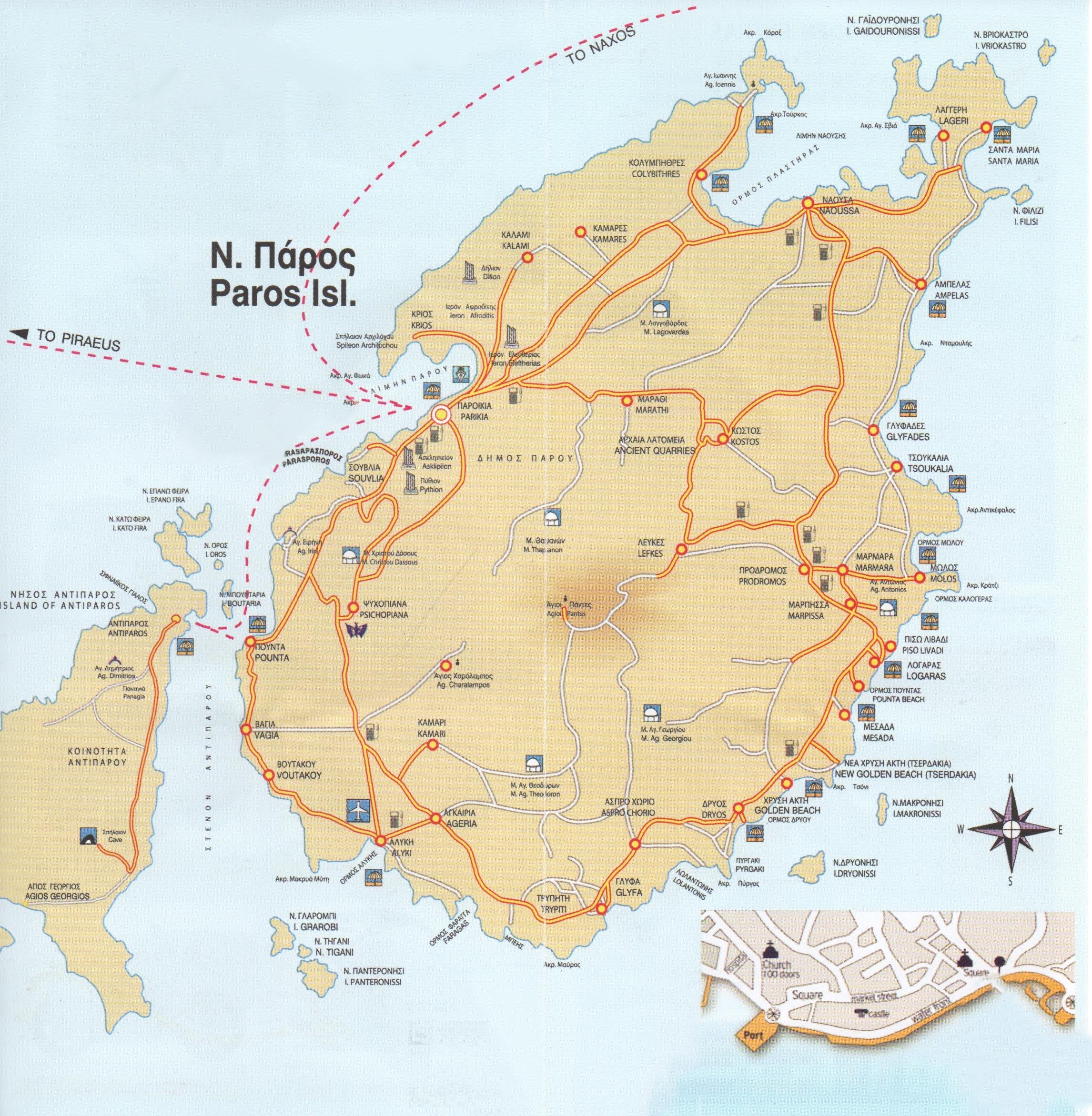 Mapa de Paros