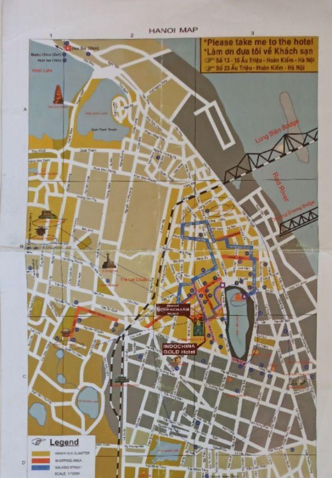 Mapa Hanoi - Vietnam - El Viaje No Termina