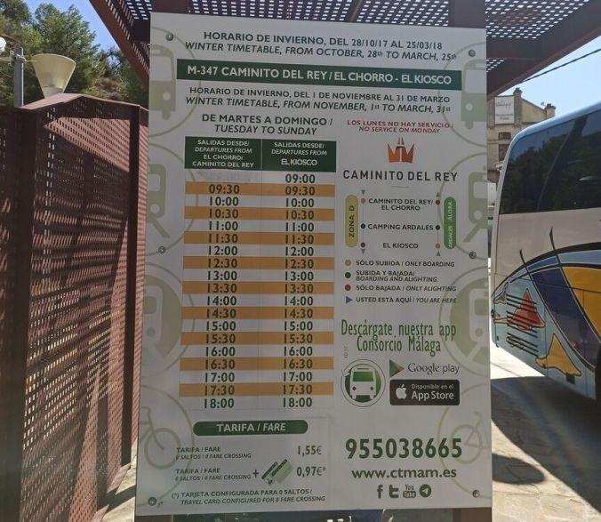 Bus lanzadera Caminito del Rey - Malaga - El Viaje No Termina