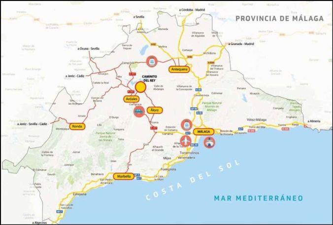 Ubicacion El Caminito del Rey - Malaga - El Viaje No Termina
