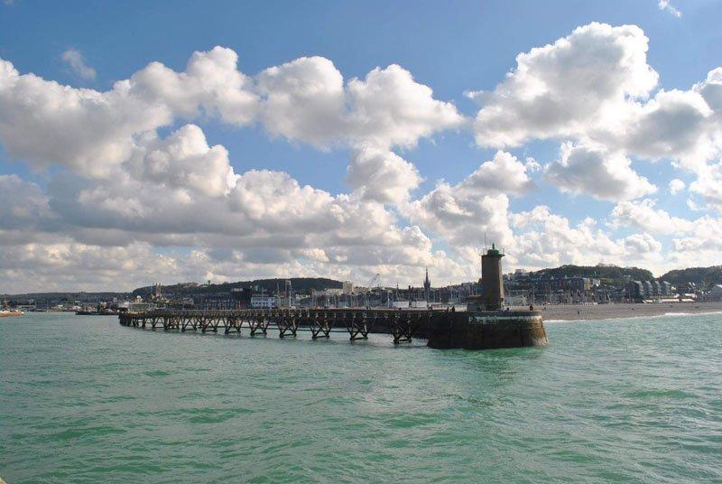 Puerto de Fécamp en Normandía