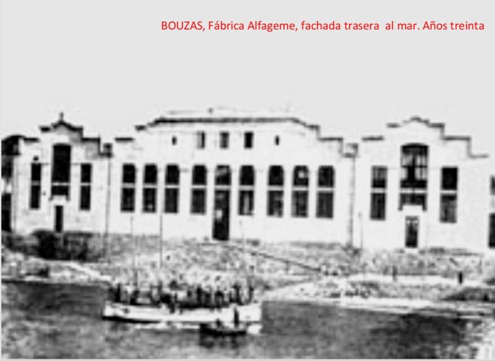 Fabrica Alfageme_ Fachada trasera al mar, años 30