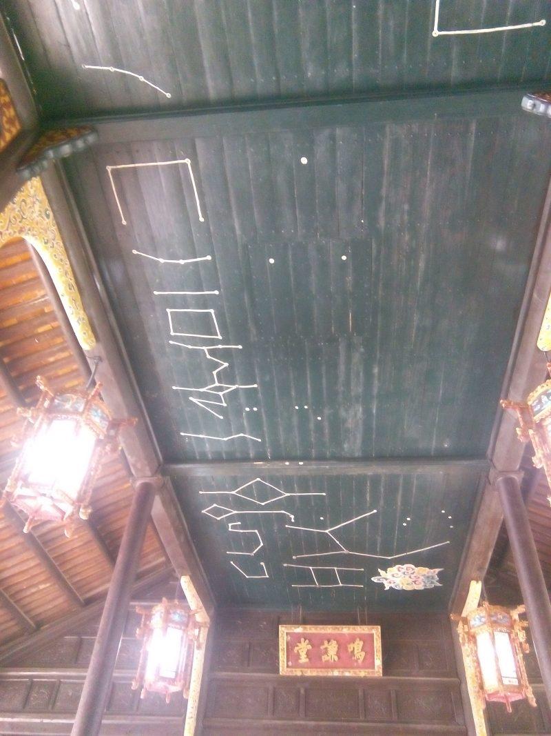 Constelaciones en el techo en Tu Duc